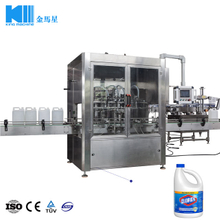 Regular Liquid Bleach Plastic Bottle Filling Machine for 121oz Bottle