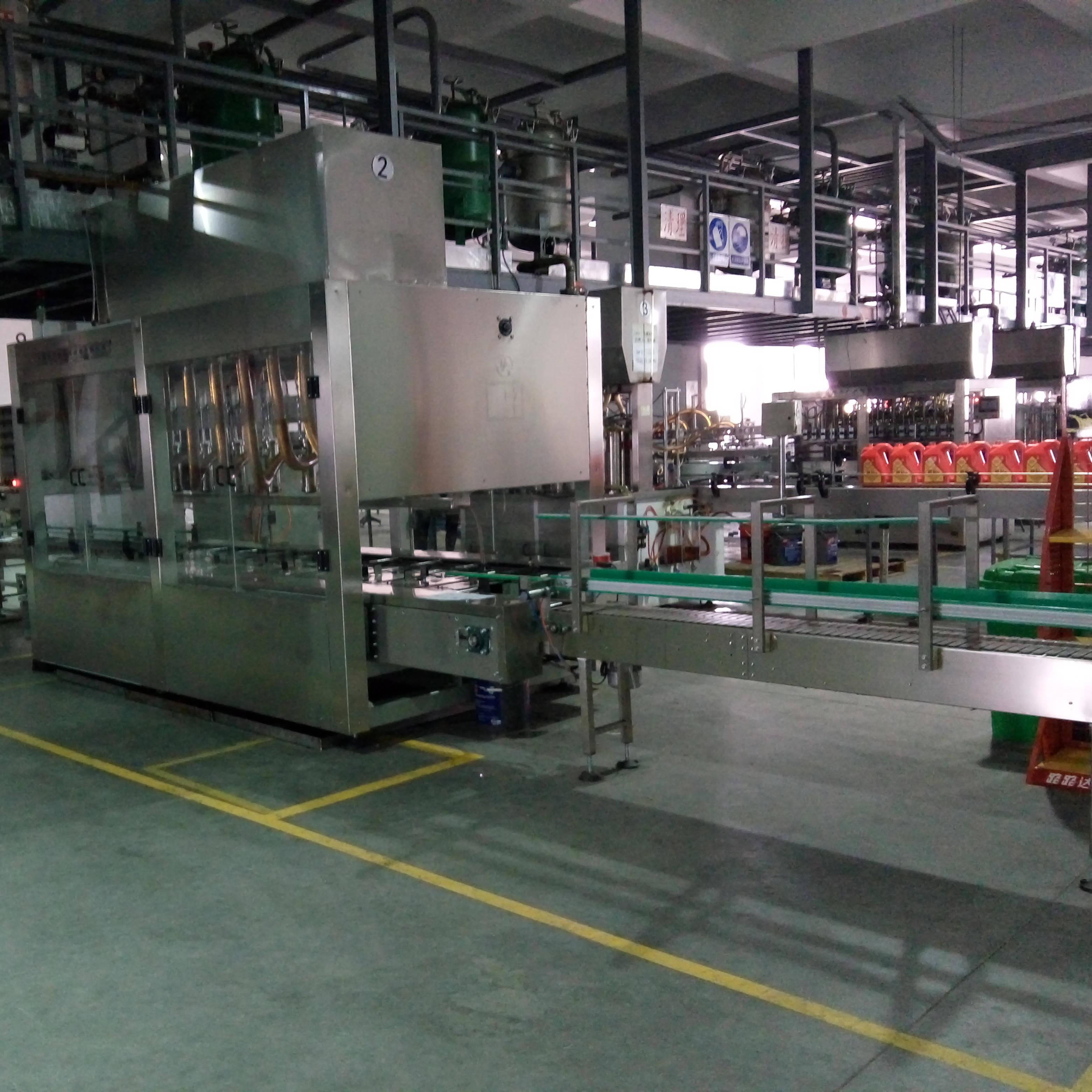 8 Heads Double Row Oil Filling Line
