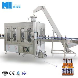 Automatic Beer Washing Filling Capping Machine(BGF14-12-4)3 in 1 Unit